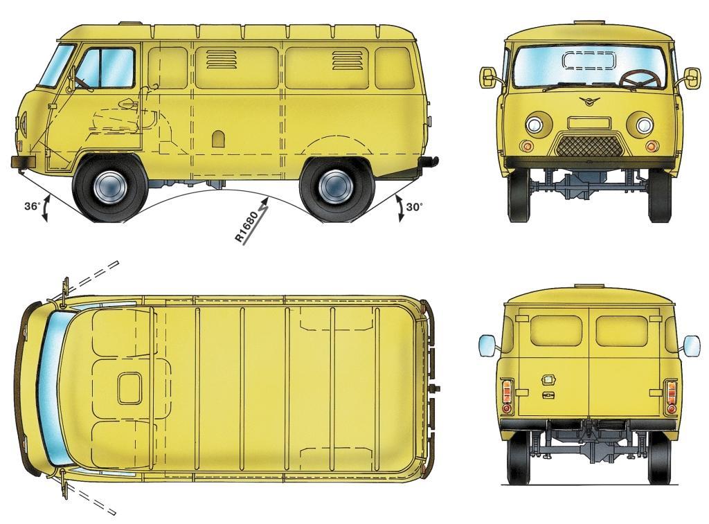 Основные размеры автомобилей