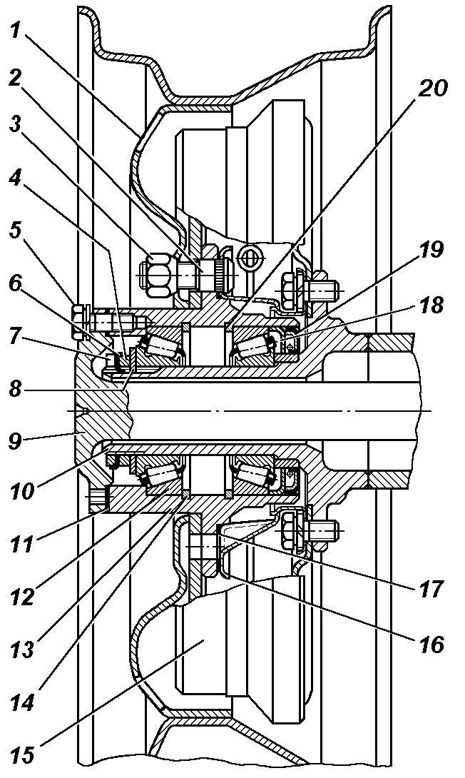 Схема ступицы переднего моста
