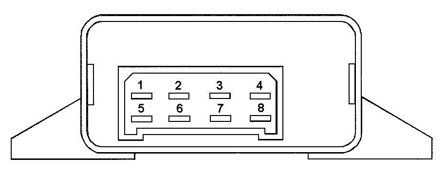 Условная нумерация штекеров в колодке блока управления электроблокировкой дверей.